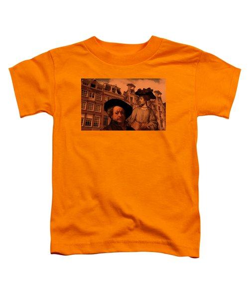 Rembrandt Study In Orange Toddler T-Shirt