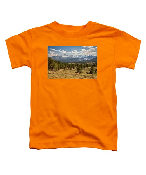 Toddler T-Shirt featuring the photograph Rocky Mountain Afternoon High by James BO Insogna