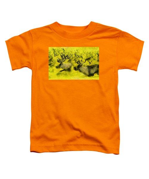 Running Deers Yellow - Da Toddler T-Shirt