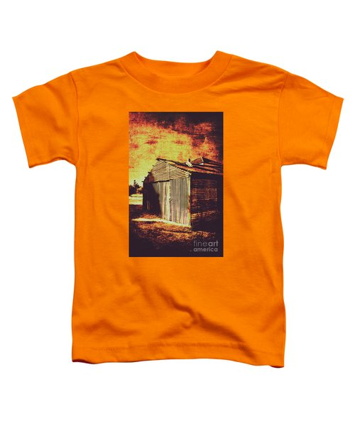 Rusty Outback Australia Shed Toddler T-Shirt