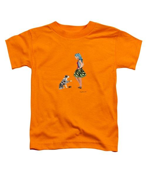 Toddler T-Shirt featuring the digital art Samantha by Nancy Levan