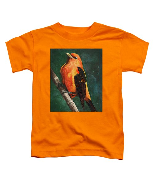 Scarlet Tanager Toddler T-Shirt