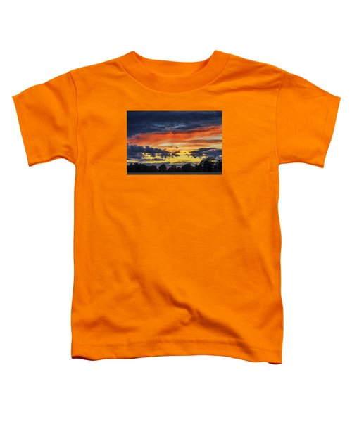 Toddler T-Shirt featuring the photograph Scottish Sunset by Jeremy Lavender Photography