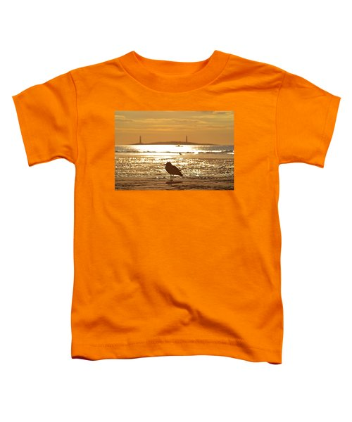 Seagull Admiring Thacher Island Gloucester Ma Good Harbor Beach Toddler T-Shirt