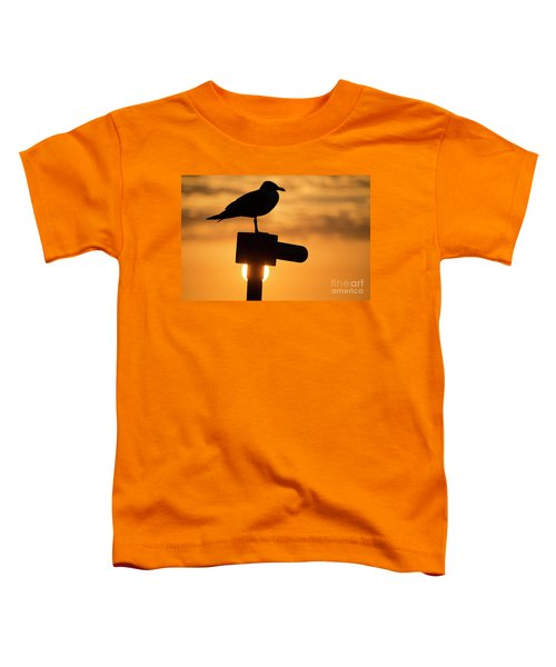 Seagull At Sunset Toddler T-Shirt