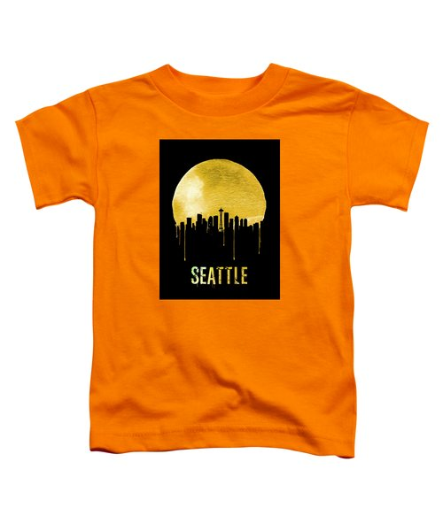 Seattle Skyline Yellow Toddler T-Shirt by Naxart Studio