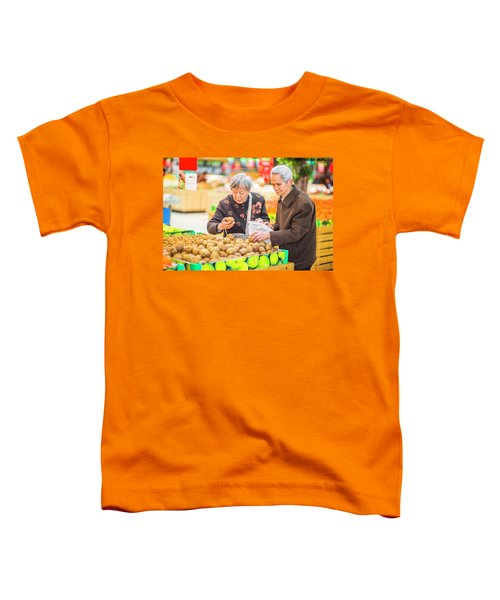 Senior Man And Woman Shopping Fruit Toddler T-Shirt
