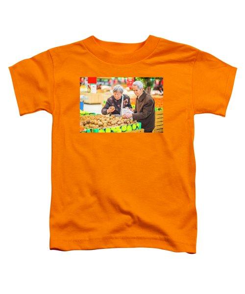 Senior Man And Woman Shopping Fruit Toddler T-Shirt