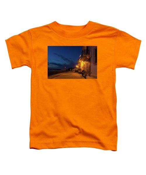 Sicilian Blue Hour At Syracuse Seaside Promenade Toddler T-Shirt