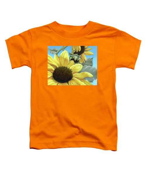 Silver Leaf Sunflower Growing To The Sun Toddler T-Shirt