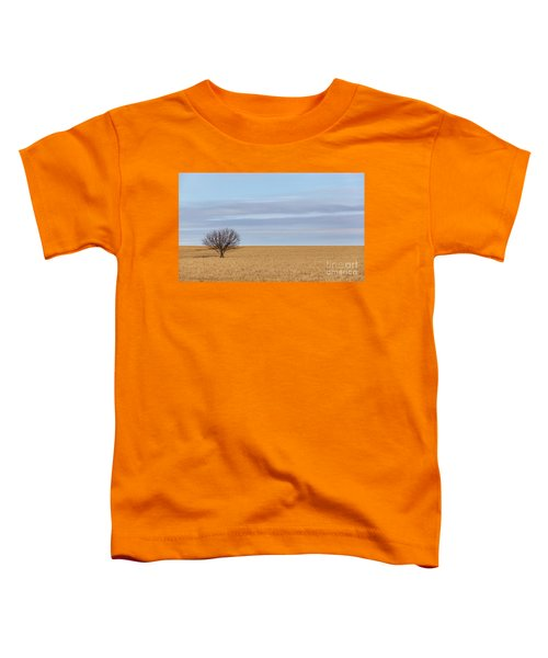 Single Tree In Large Field With Cloudy Skies Toddler T-Shirt