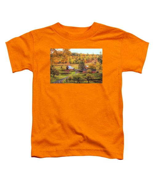 Sleepy Hollow - Pomfret Vermont In Autumn Toddler T-Shirt