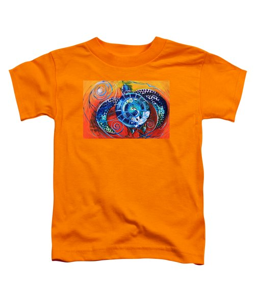 Slopical Tropical Sea Turtle Toddler T-Shirt