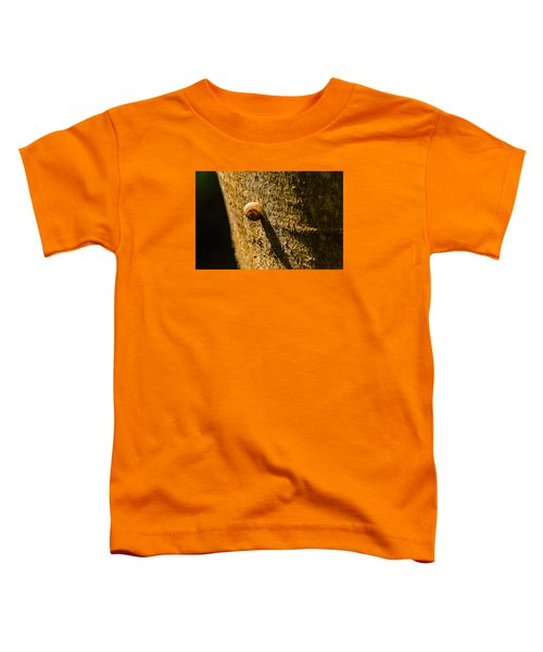Small Snail On The Tree Toddler T-Shirt