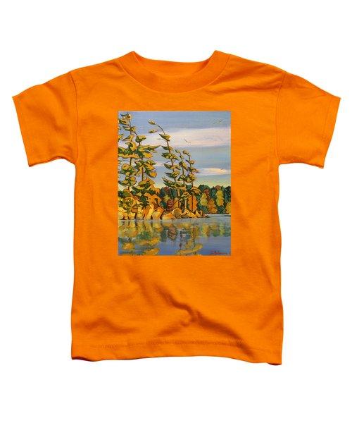 Snake Island In Fall Sunset Toddler T-Shirt