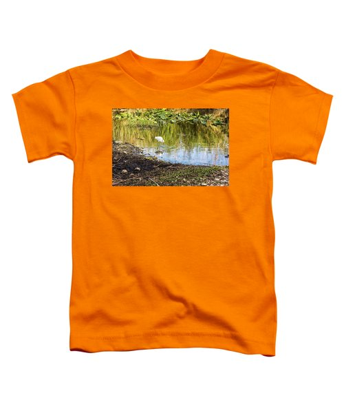 Snowy Egret Reflections Toddler T-Shirt