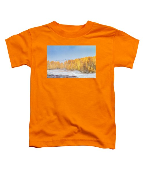 Snowy Fall Morning In Colorado Mountains Toddler T-Shirt