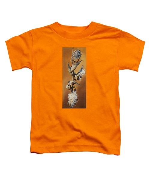 Song Sparrow And Milkweed Toddler T-Shirt