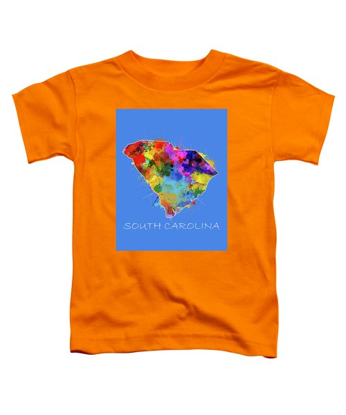 South Carolina Map Color Splatter 3 Toddler T-Shirt
