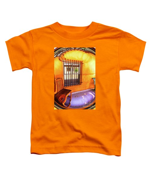 Southwestern Porch Distortion With Puple Floor Toddler T-Shirt
