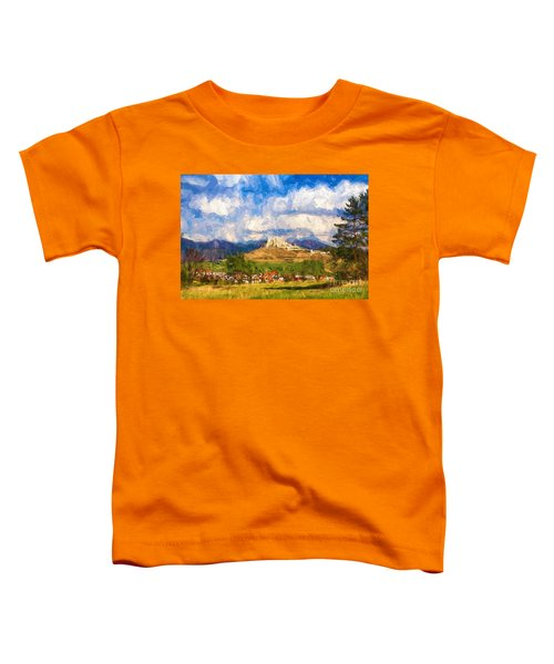 Castle Above The Village Toddler T-Shirt