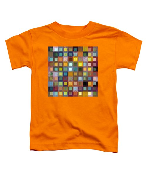 Toddler T-Shirt featuring the digital art Squares In Squares One by Michelle Calkins