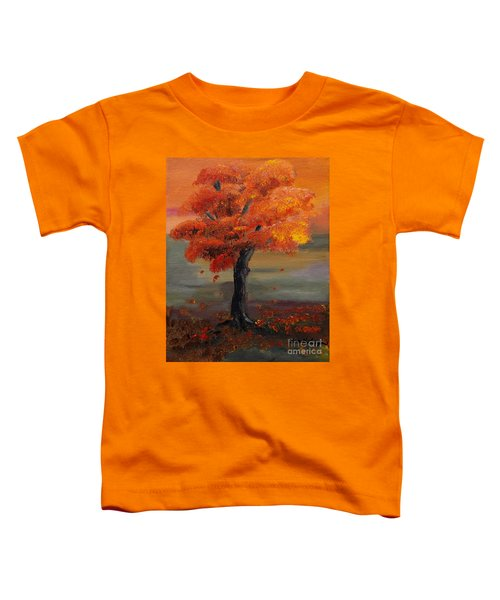 Stand Alone In Color - Autumn - Tree Toddler T-Shirt