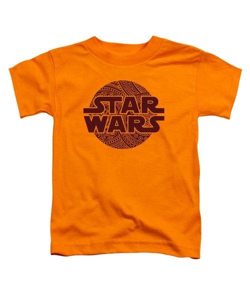 Star Wars Art - Logo - Red 02 Toddler T-Shirt