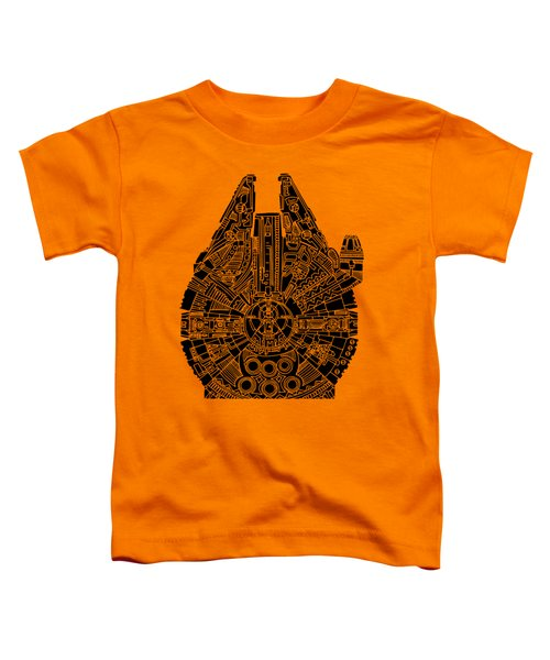 Star Wars Art - Millennium Falcon - Black Toddler T-Shirt