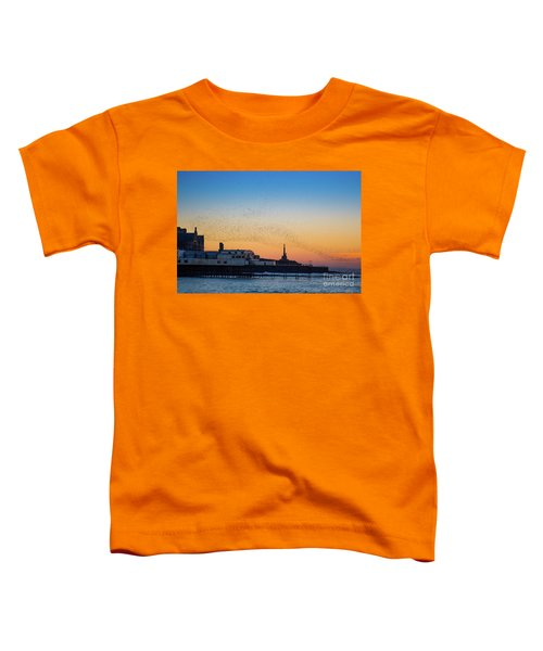 Starlings At Sunset In Aberystwyth Toddler T-Shirt