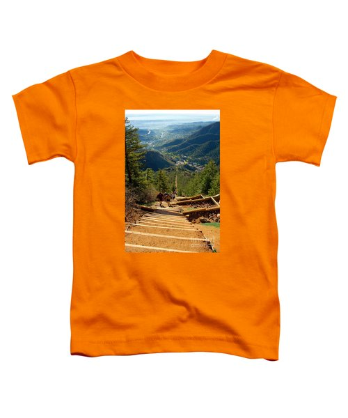 Steep Manitou Incline And Barr Trail Toddler T-Shirt