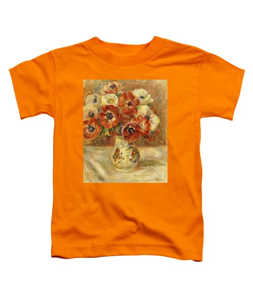 Still Life With Anemones  Toddler T-Shirt