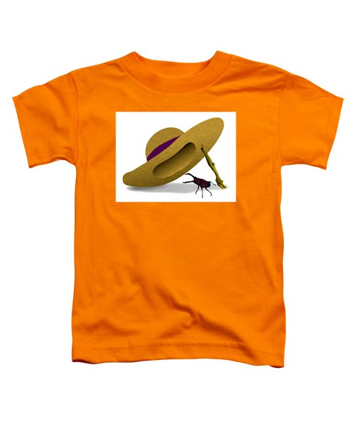 Straw Hat And Stag Beetle Toddler T-Shirt