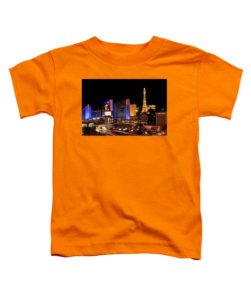 Streaking Along The Famous Strip - Las Vegas Neon Rush Toddler T-Shirt