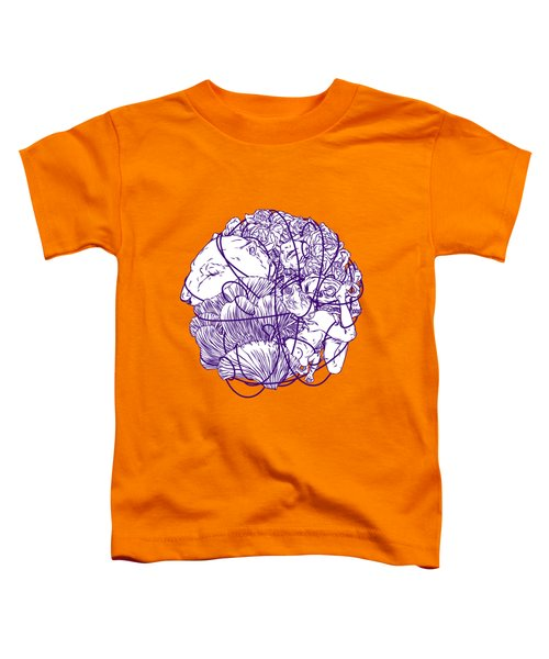 Stuff Toddler T-Shirt by Evgenia Chuvardina