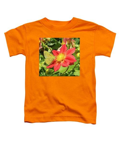 Sulfur Butterfly On Flower Toddler T-Shirt