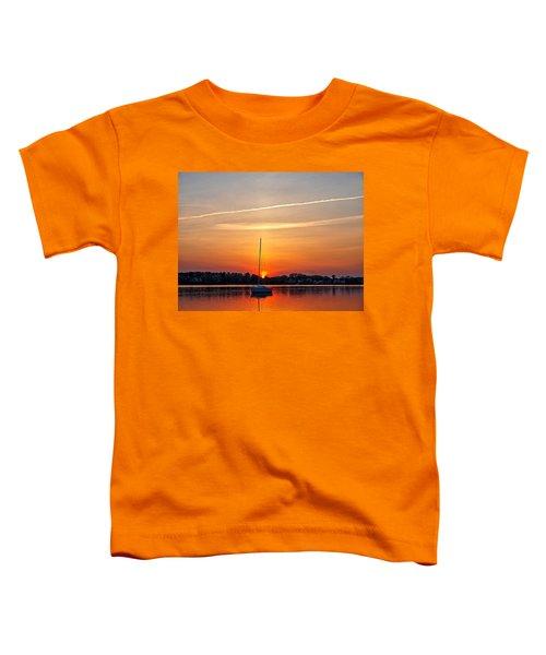 Summer Sunset At Anchor Toddler T-Shirt