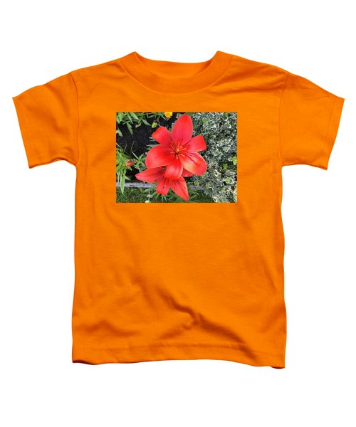 Sunbeam On Red Day Lily Toddler T-Shirt