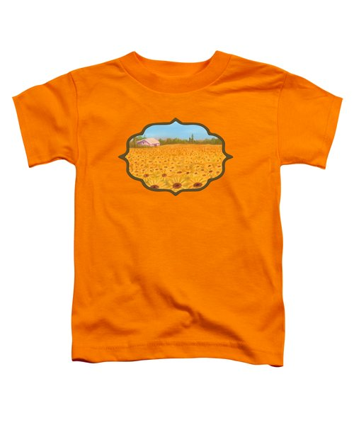 Sunflower Field Toddler T-Shirt