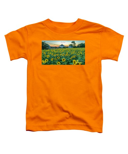 Sunflowers For Wishes  Toddler T-Shirt