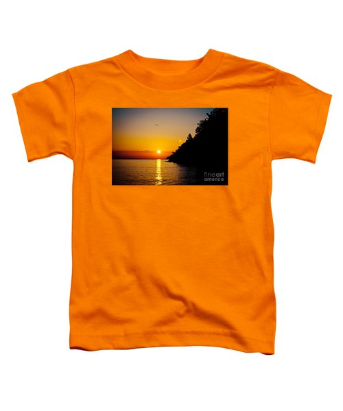 Sunrise And Seascape Orange Color Toddler T-Shirt
