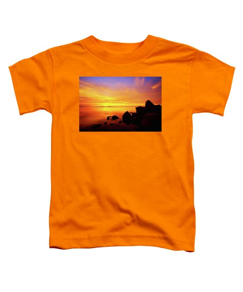 Sunset And Fire Toddler T-Shirt