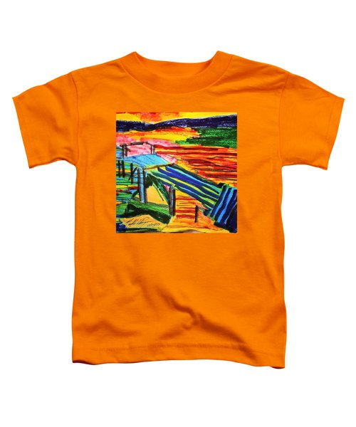 Sunset At Dock Toddler T-Shirt