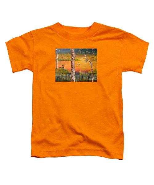 Sunset Fishing Toddler T-Shirt
