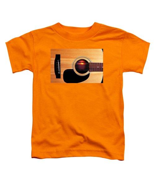 Sunset In Guitar Toddler T-Shirt