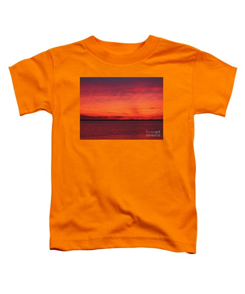 Sunset On Jersey Shore Toddler T-Shirt