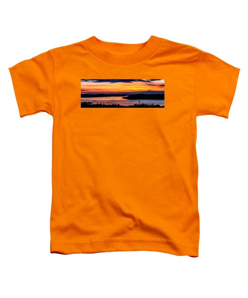 Sunset Over Hail Passage On The Puget Sound Toddler T-Shirt