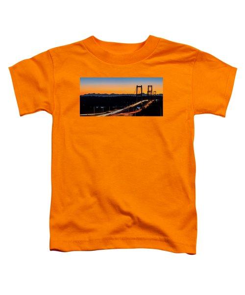Sunset Over Narrrows Bridge Panorama Toddler T-Shirt