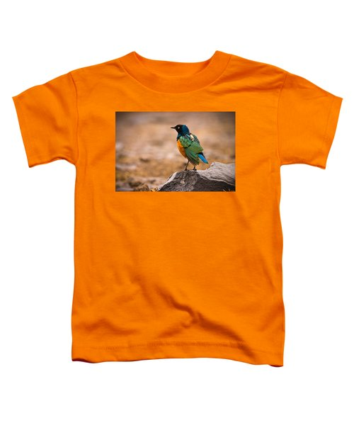 Superb Starling Toddler T-Shirt by Adam Romanowicz