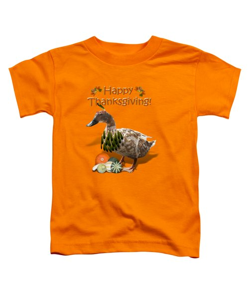 Thanksgiving Indian Duck Toddler T-Shirt by Gravityx9 Designs